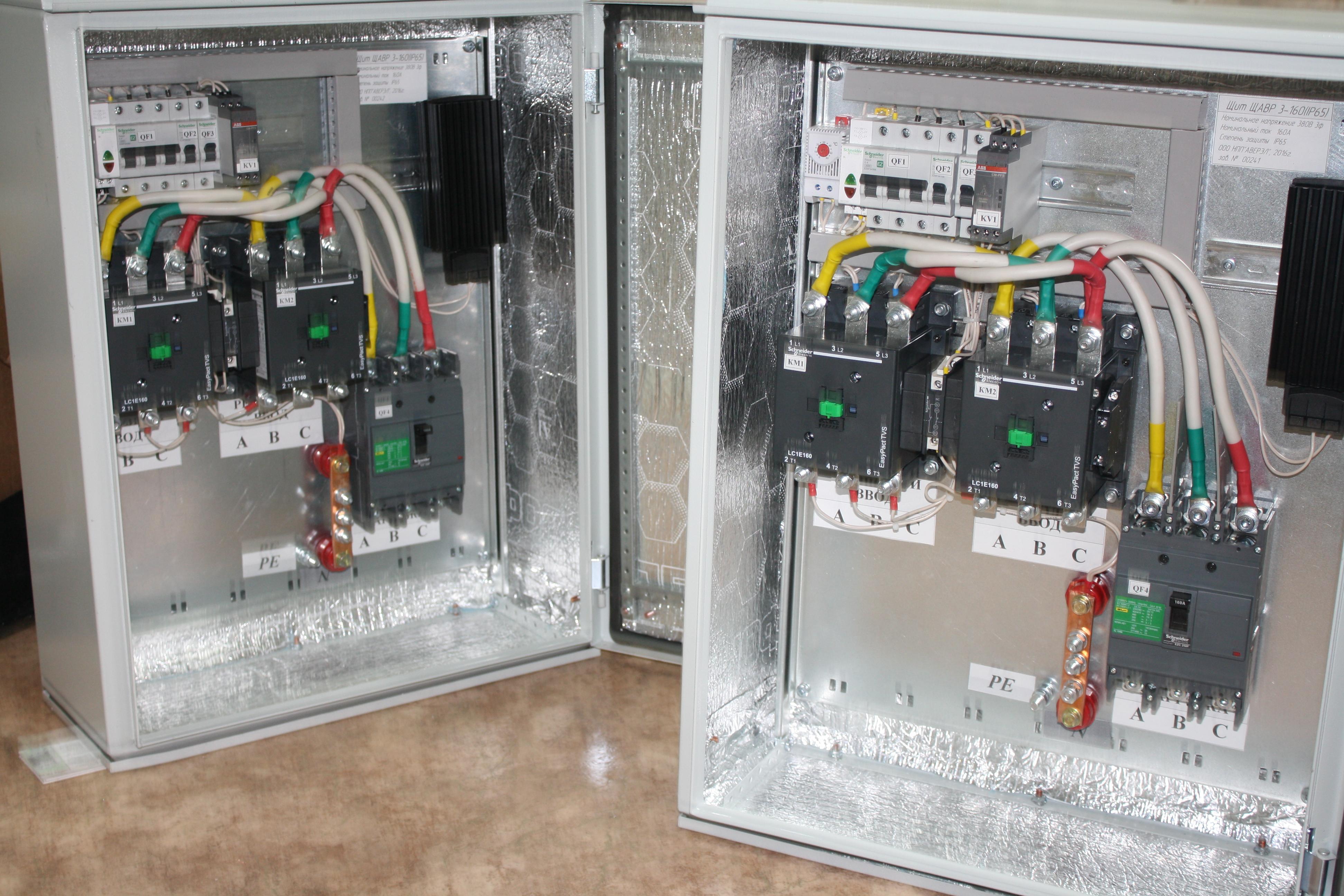 Шкафы АВР в термошкафу ТШ