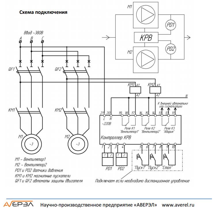 Схема подключения контроллера кр21