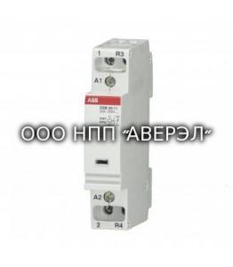 Модульный контактор ABB ESB20-11N-06, модульный, 20А, АС-1, 1НО+1НЗ, катушка, 230В, AC/DC 1SBE121111R0611